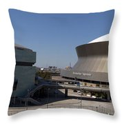 New Orleans Sports And Entertainment Complex Throw Pillow