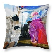 New Orleans Statues 9 Throw Pillow