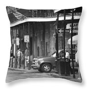 New Orleans Street Photography 2 Throw Pillow