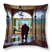 New Orleans Street Photography Throw Pillow