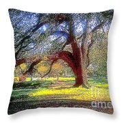 New Orleans Sunday In The Park With George Throw Pillow