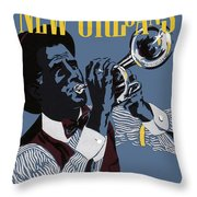 New Orleans, Trumpeter Throw Pillow
