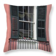 New Orleans Windows 4 Throw Pillow