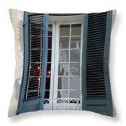 New Orleans Windows 5 Throw Pillow