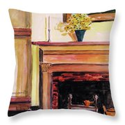 New Painting Over The Mantel Throw Pillow
