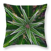 New Palm Leaves Throw Pillow