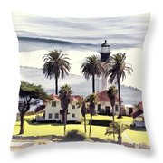 New Point Loma Lighthouse Throw Pillow