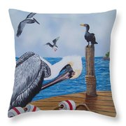 New Point Pelican Throw Pillow