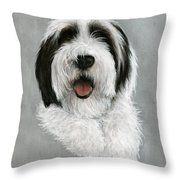 New Pup Throw Pillow