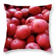 New Red Potatoes For Sale In A Market Throw Pillow