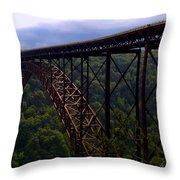 New River Bridge Throw Pillow