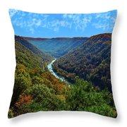 New River Gorge - Autumn Throw Pillow