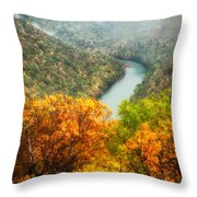 New River Gorge Wv Throw Pillow
