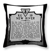 New River Historical Marker Throw Pillow