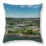 New Rochelle Bech Clubs Throw Pillow