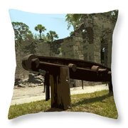 New Smyrma Sugar Mill Throw Pillow by Allan  Hughes