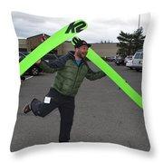 New Snow Jig... Throw Pillow