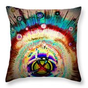 New Solar System Is Born Throw Pillow