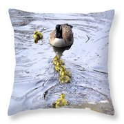 New Spring Baby Geese Throw Pillow
