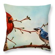 New Buds Of Spring Throw Pillow