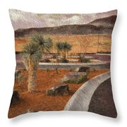 New Subdivision View Throw Pillow
