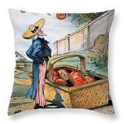 New Territories Cartoon Throw Pillow