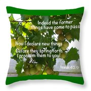 New Things Scripture Throw Pillow