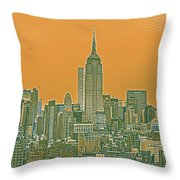New Tork City Ny Travel Poster 4 Throw Pillow