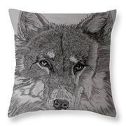 Wolf. Throw Pillow by Cynthia Adams