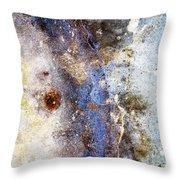 Art Blue Metal 58 Throw Pillow