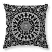 New Vision Black And White Throw Pillow