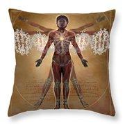 New Vitruvian Woman Throw Pillow