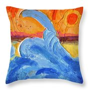 New Wave Throw Pillow