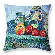 New Work Painted In Pointillism  Throw Pillow