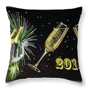New Year 2018 Throw Pillow