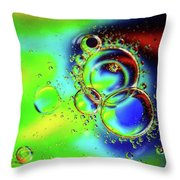 New Year Bubbles Throw Pillow
