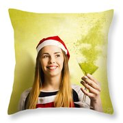 New Year Christmas Party Throw Pillow