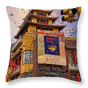 New Year In Chinatown Throw Pillow