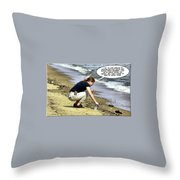New Year Resolution - Stay Healthy Throw Pillow