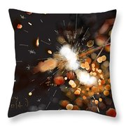 New Year Sparklers Throw Pillow