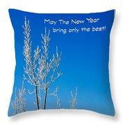 New Year Wish Throw Pillow