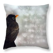 New Years Card Throw Pillow