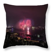 New Year's Eve Fireworks  Throw Pillow