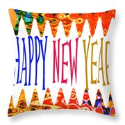 New Year's Greetings Throw Pillow