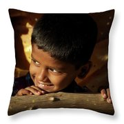 New Year's Light Throw Pillow