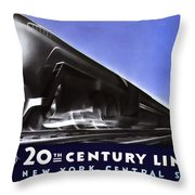 New York 20th Century Limited Train  1938 Throw Pillow