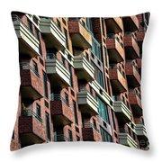 New York Apartments  Throw Pillow