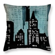 New York Art Deco Throw Pillow