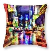 New York At Night - 14 Throw Pillow