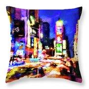 New York At Night - 15 Throw Pillow